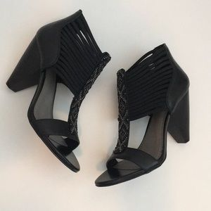 Vince Camuto Black Cage Heels Size 6.5